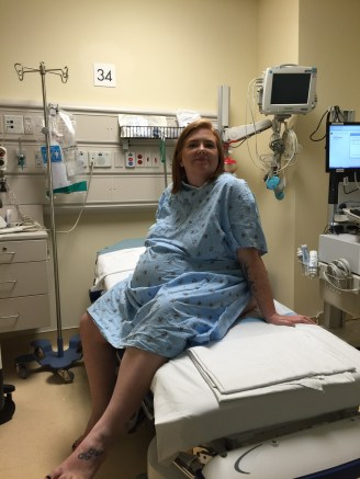 Waiting to be taken into surgery