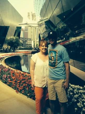 Walking around in Vegas