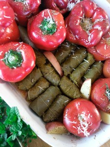 Stuffed vegetables , γεμιστά,stuffed tomato, stuffed zucchini