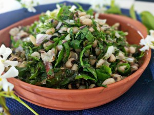 black-eyed bean salad vegan