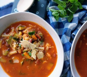 tasty minestrone soup vegetables beef stew