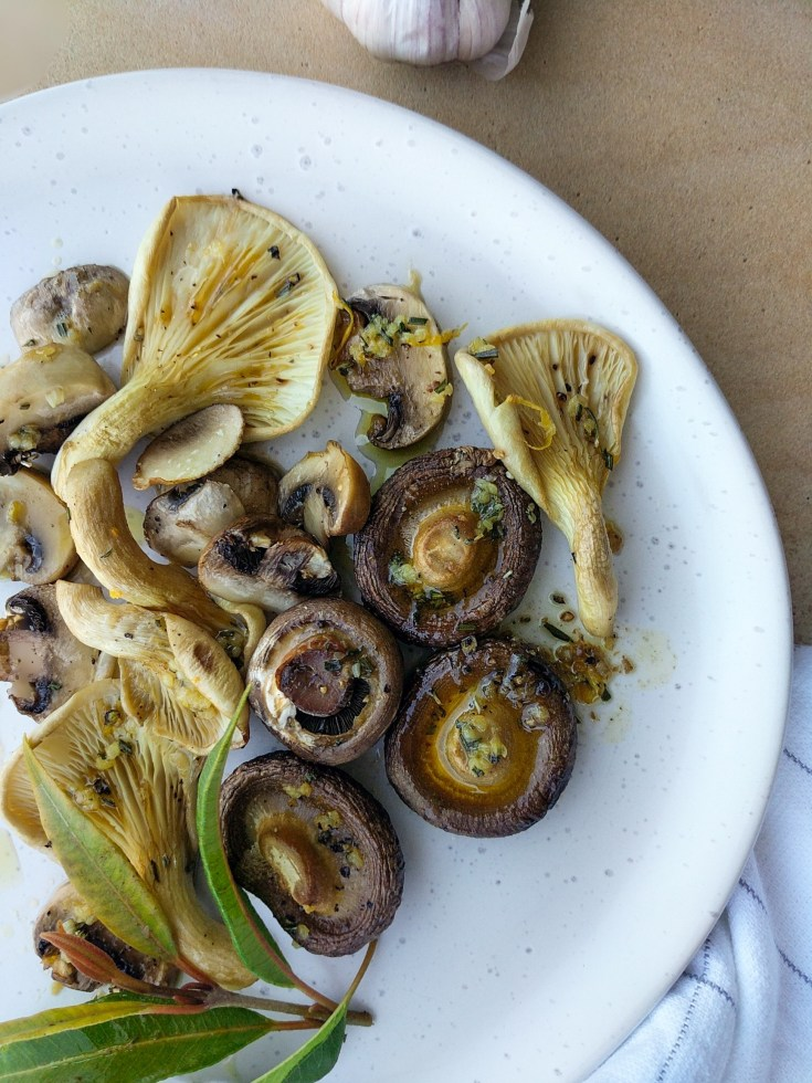 Roasted Mushrooms with Lemon Myrtle Butter
