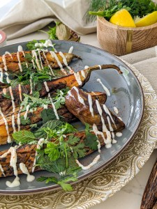 grilled eggplant indian spices