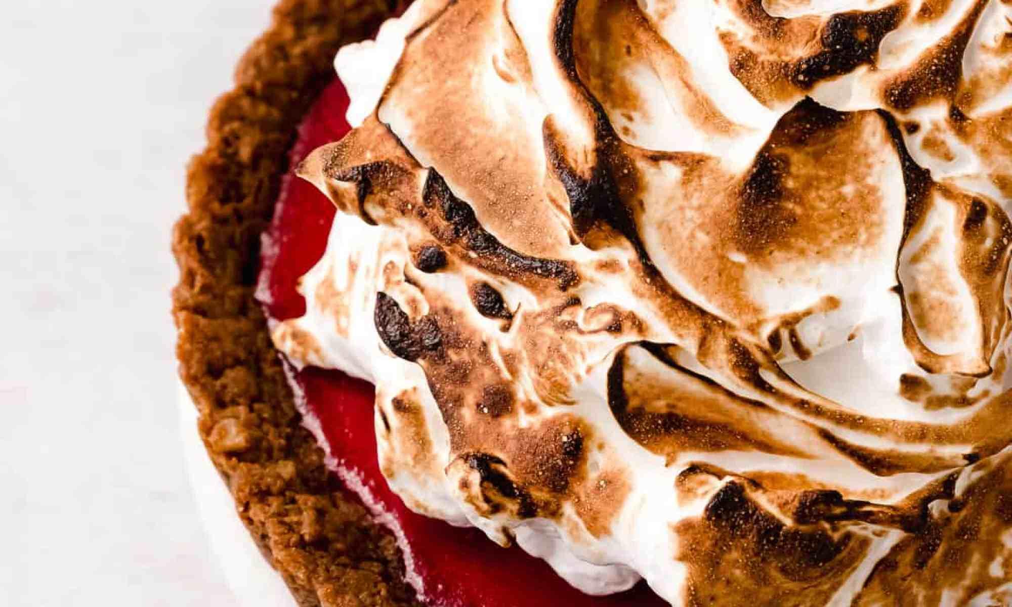 cranberry curd gingersnap tart
