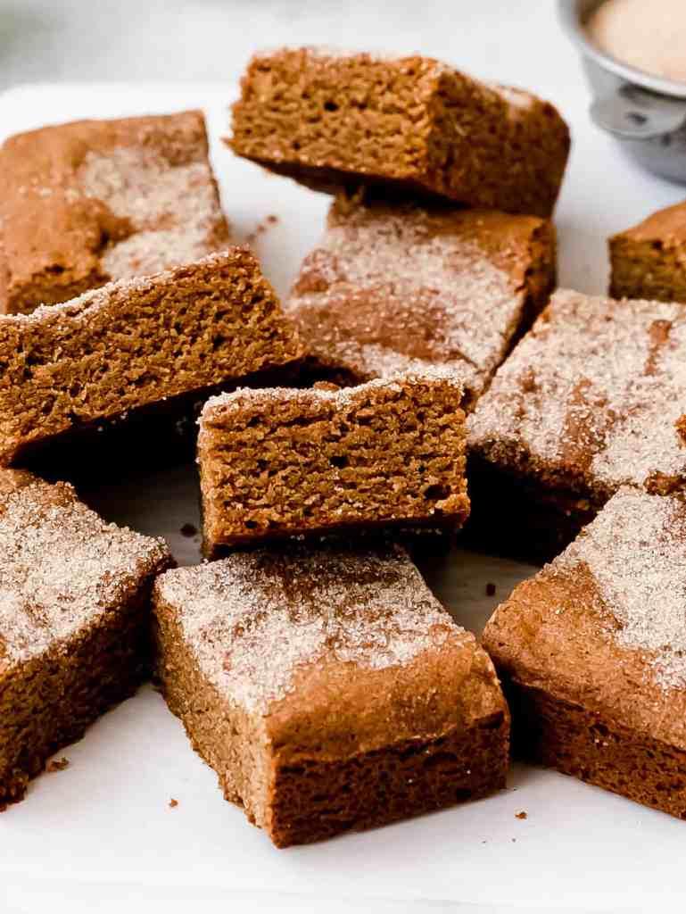 spiced gingerbread blondie bars