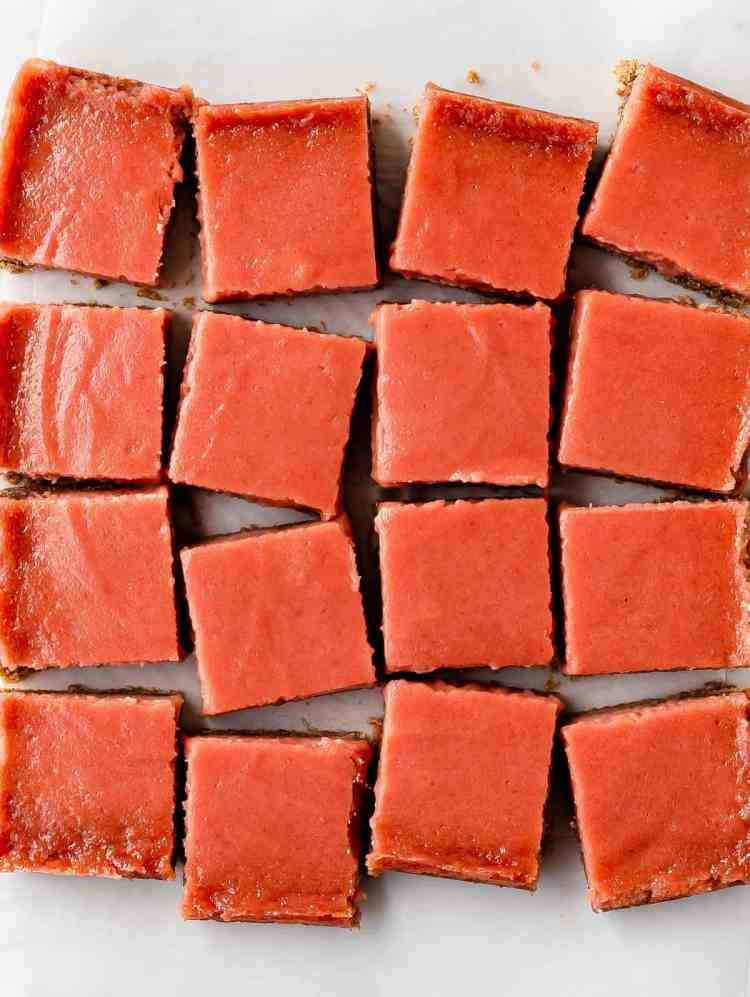 blood orange curd bars