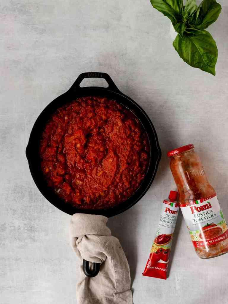 fried burrata over arrabbiata sauce