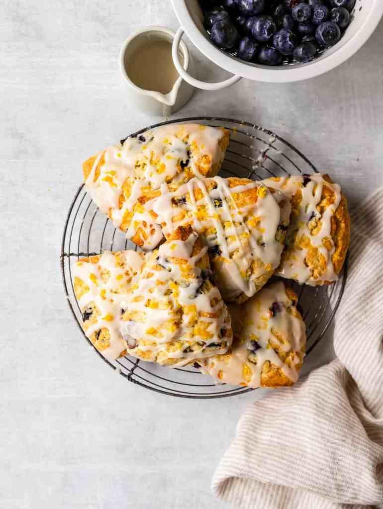 easy lemon blueberry scones