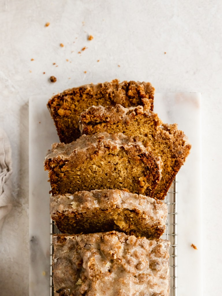 cardamom pear loaf cake