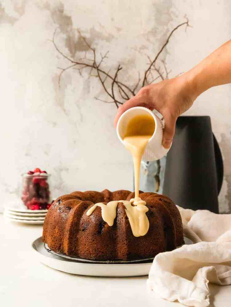 cranberry orange blossom Bundt Cake
