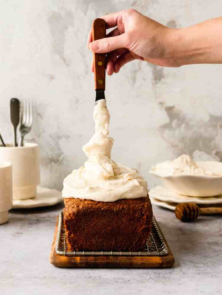 brown butter parsnip loaf cake