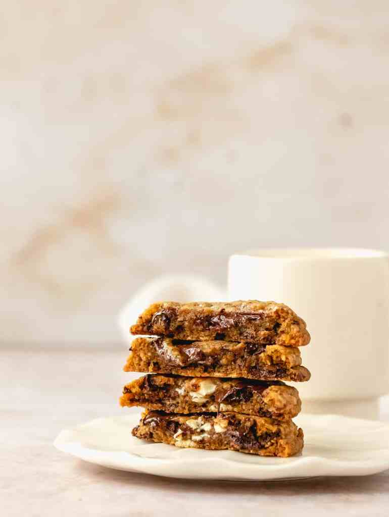 chewy triple chocolate citrus cookies