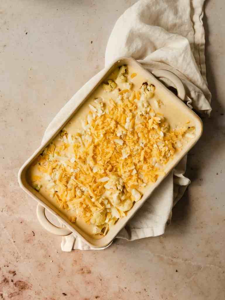 cheesy roasted cauliflower gratin