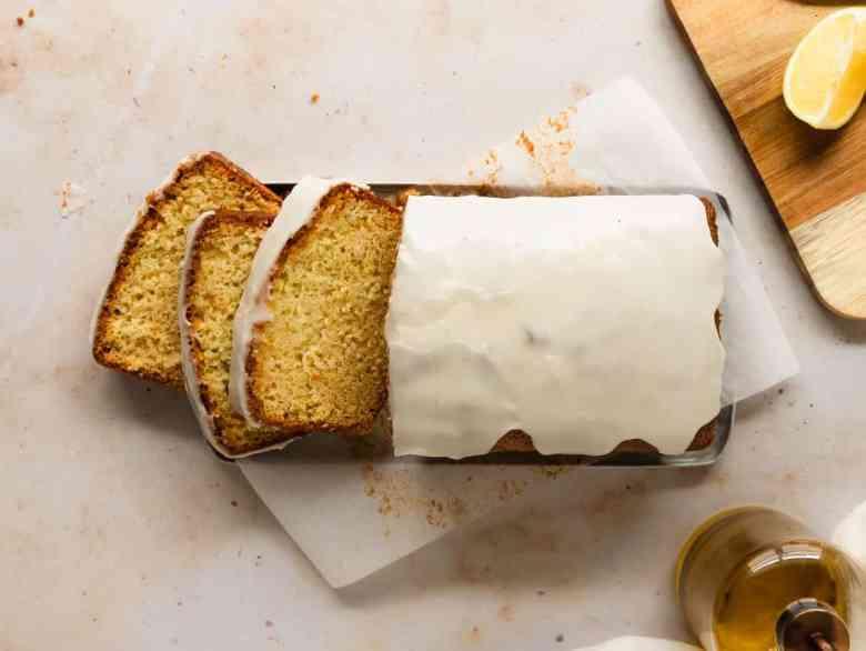 lemon olive oil loaf cake