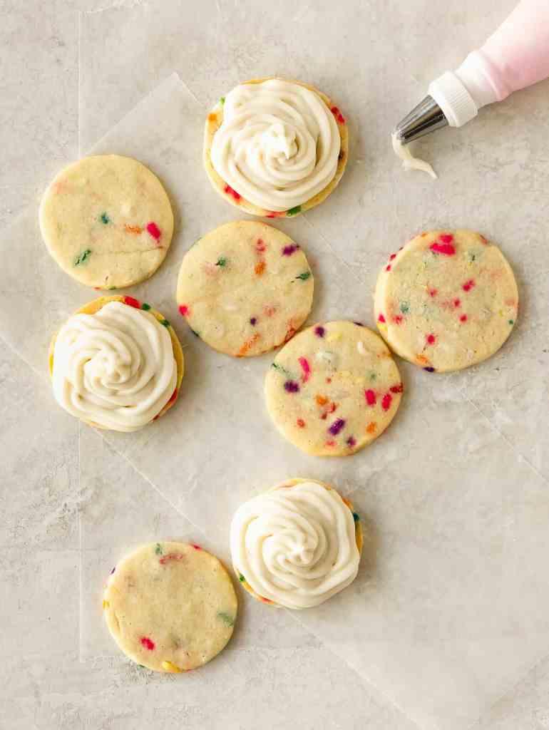 confetti sandwich cookies