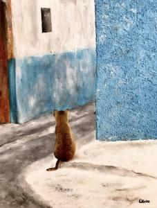 """""""El testigo"""" Óleo sobre lienzo. 46x38cm"""