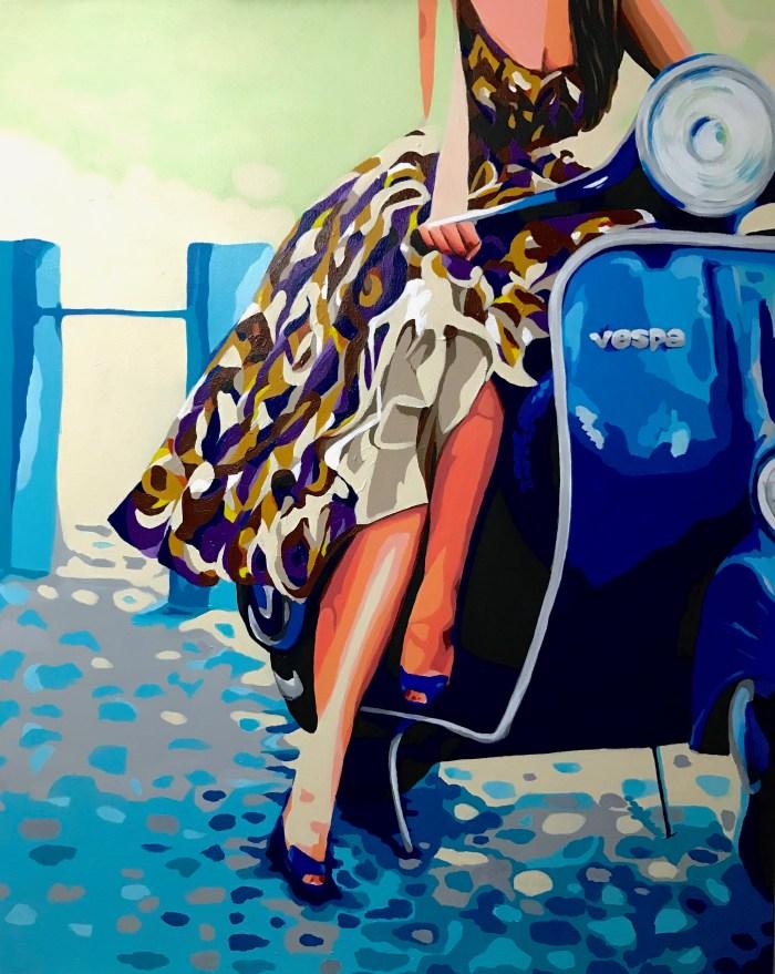 """""""Un paseo por el tiempo"""" Acrílico sobre lienzo 100x80c,"""