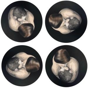 """""""Abismos"""" Óleo sobre lienzo circular de 60cm de diámetro"""