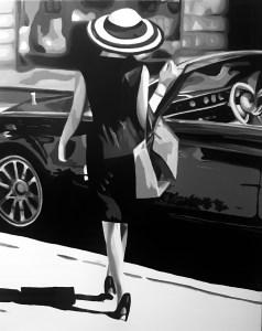 """""""Glamour"""" Óleo sobre lienzo de 81x65cm"""