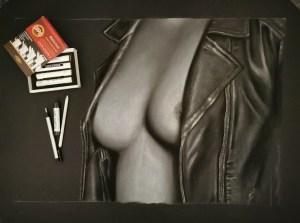 """A Pecho Descubierto"" Pastel sobre Papel Canson Negro 65x50cm"