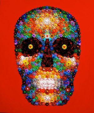 Waleska-Nomura-Flower-Skull-(Red)