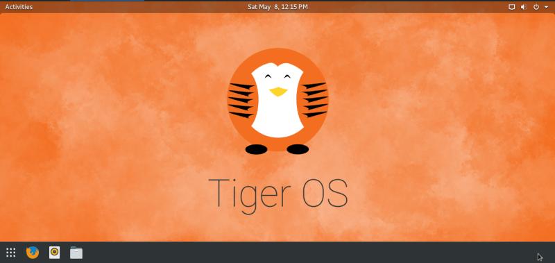 TigerOS installation homescreen