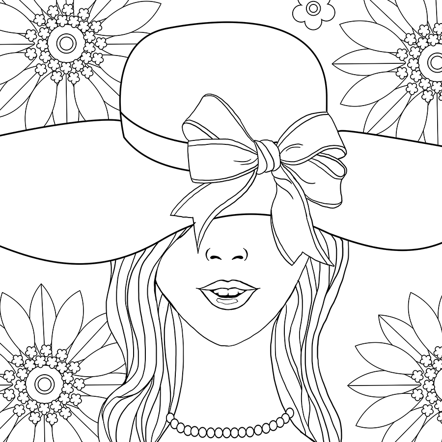adult coloring page fashion