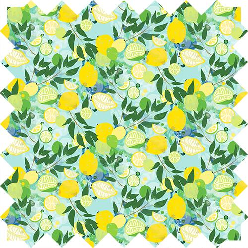 Lemon pattern, design by Olivia Linn