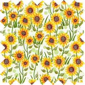 Sunflower pattern design by Olivia Linn
