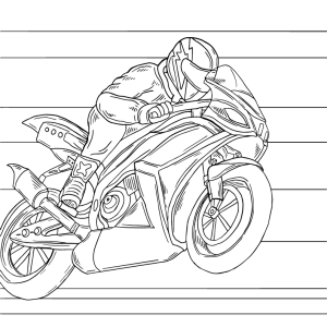 Sport, coloring page, race, artwork by Olivia Linn
