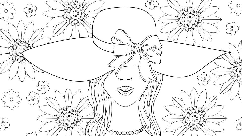 Fashion coloring page by Olivia Linn