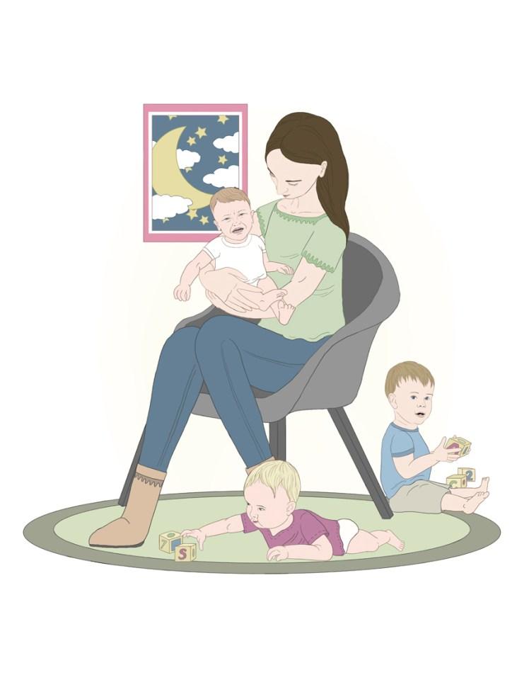 Public daycare illustration series