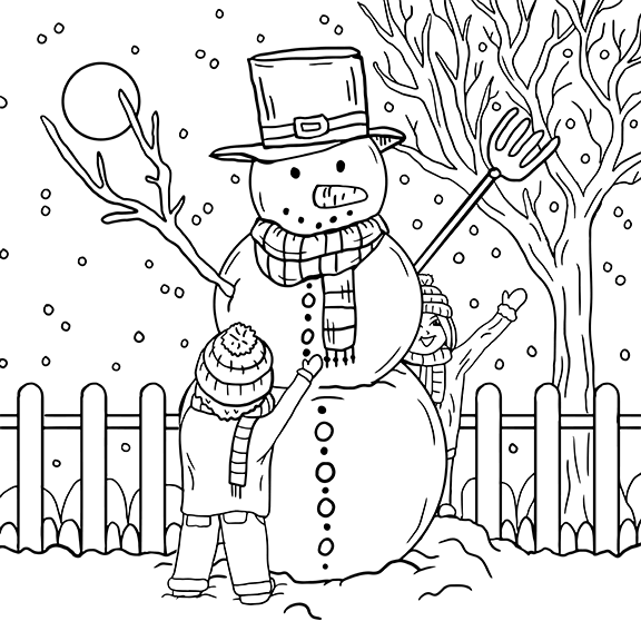 Christmas, coloring page, olivia linn, drawing
