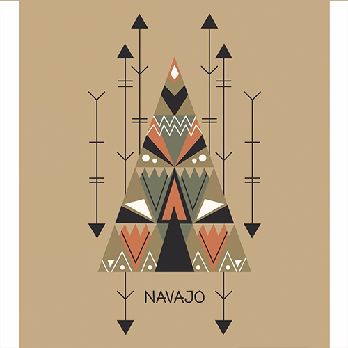 Tribal surface design, illustration by Olivia Linn