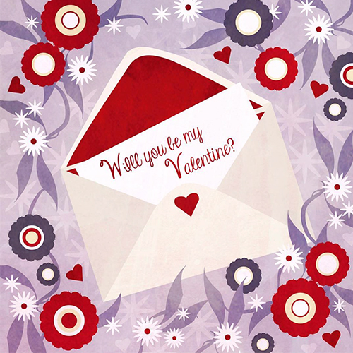 valentine, greetings, design by Olivia Linn