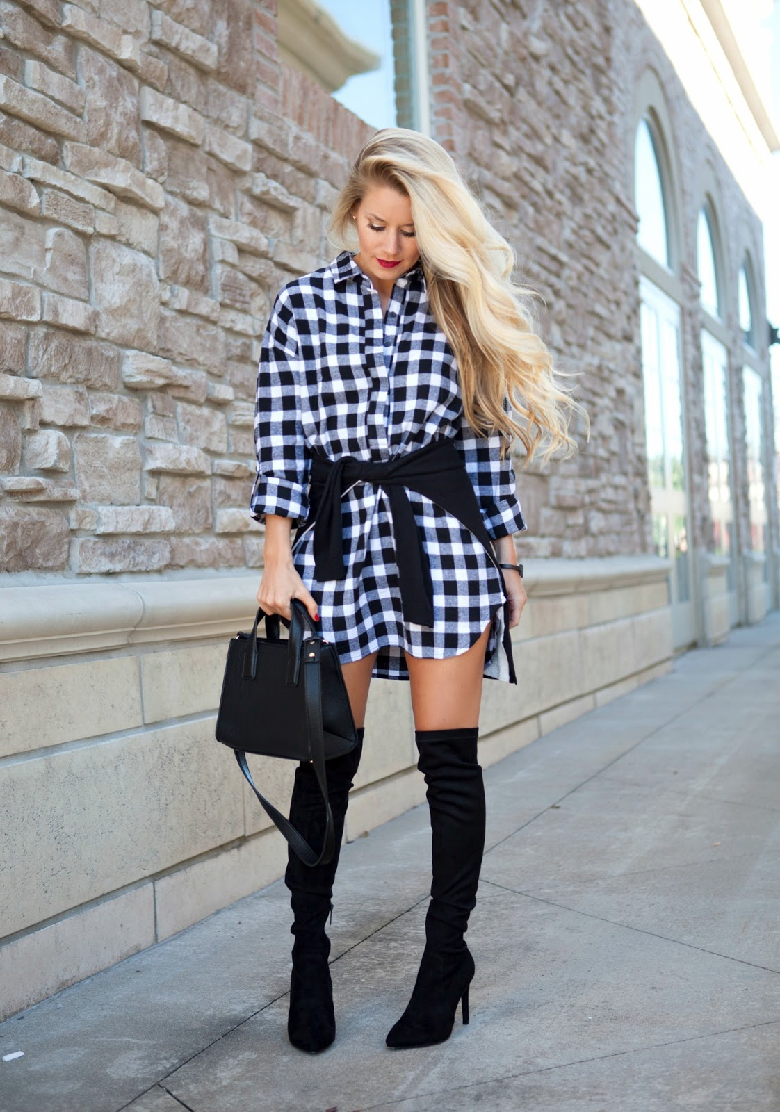 Over The Knee Boots Plaid Welcome To Olivia Rink