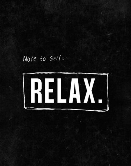 Chaotic Days: How to relax