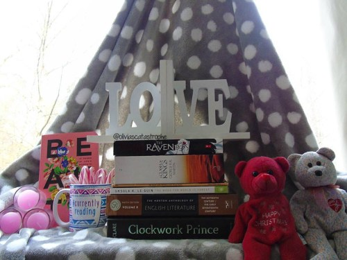 Book Stack with LOVE Bookend and teddy bears