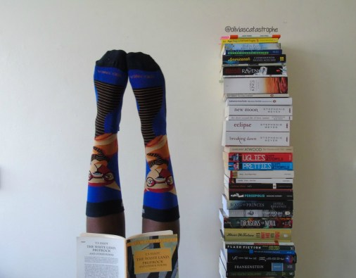 sock panda socks and book tower