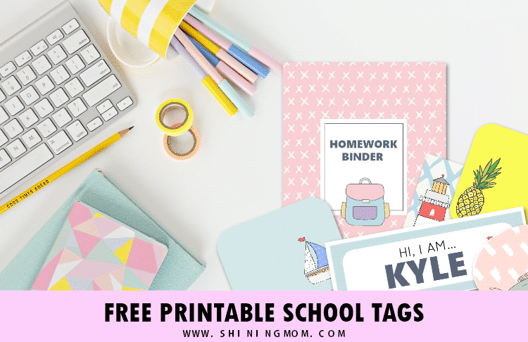 free printable labels for back to school organization
