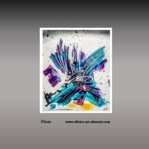 Amétyste Tableau abstrait coloré