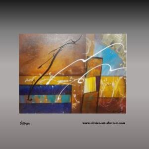 Sistera Tableau abstrait coloré