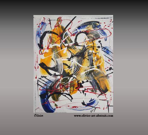 Jazz Tableau abstrait coloré