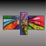 peinture abstraite tryptique