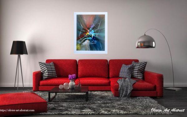 BALDER Olivier art abstrait vous présente des tableaux muraux abstrait pour votre décoration d'intérieur
