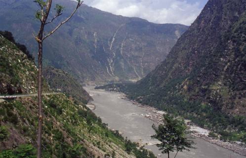 La vallée de l'Indus, (au retour) le 24 août 1999