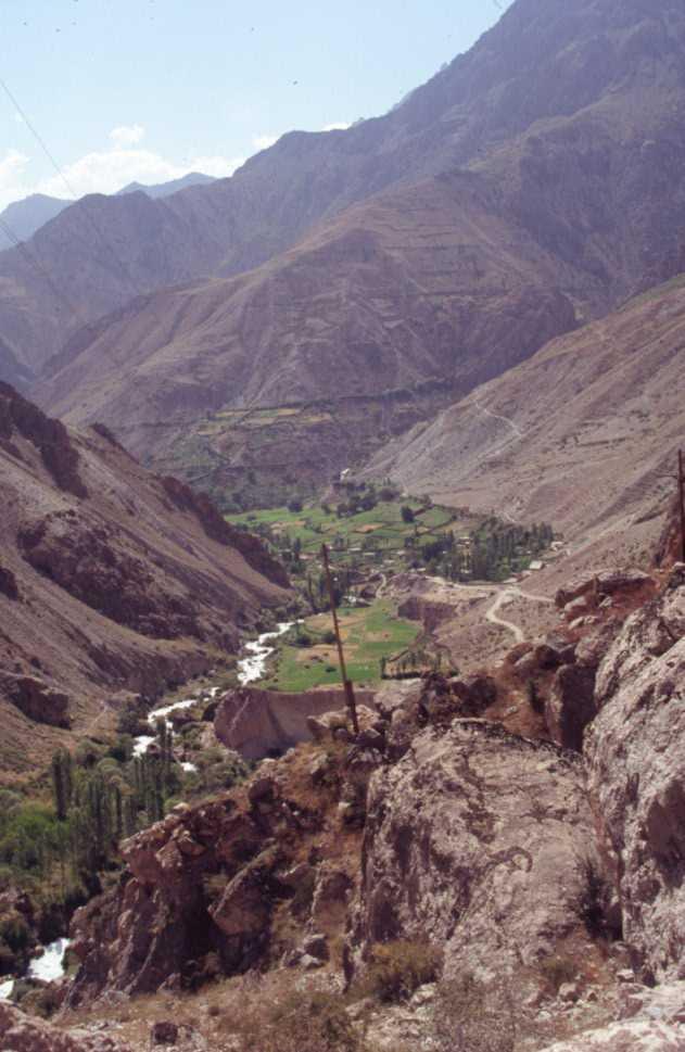 La vallée et le village de Pasrud, le 22 août 2004