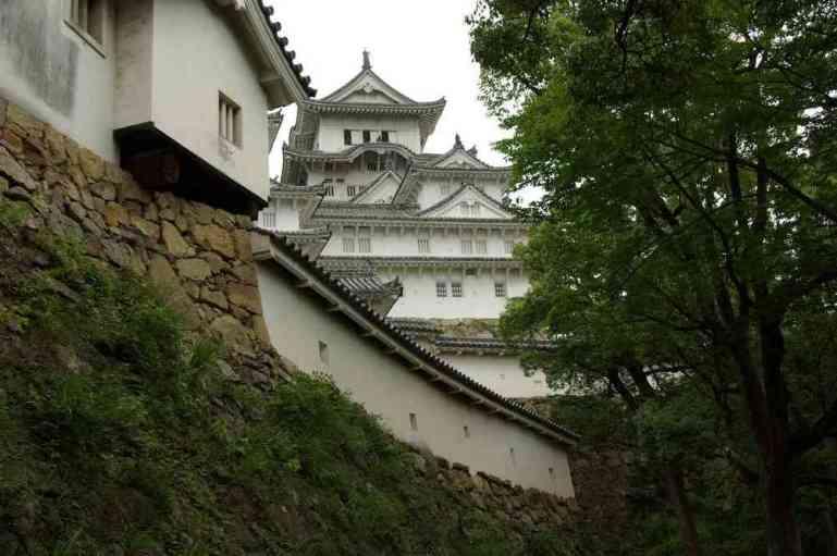 Les remparts et le donjon du château d'Himeji, le 9 septembre 2007