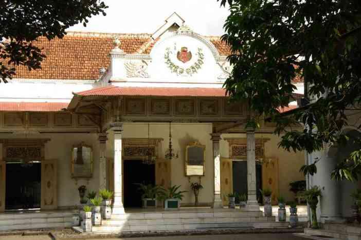 L'un des bâtiments du kraton de Yogyakarta, le 22 juillet 2007