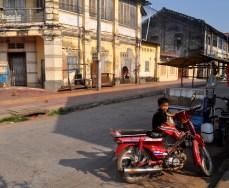 Cambodia boy on bike